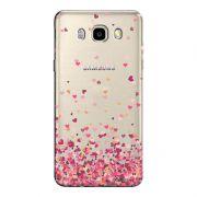 Capa Transparente Personalizada Exclusiva Samsung Galaxy J5 2016 Corações - TP48
