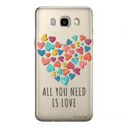 Capa Transparente Personalizada Exclusiva Samsung Galaxy J5 2016 Frases - TP56