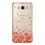 Capa Transparente Personalizada Exclusiva Samsung Galaxy J5 2016 Corações - TP168