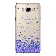 Capa Transparente Personalizada Exclusiva Samsung Galaxy J5 2016 Corações - TP170