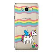 Capa Transparente Personalizada Exclusiva Samsung Galaxy J5 2016 Unicórnio - TP181