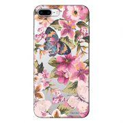 Capa Transparente Personalizada Para iPhone 7 Plus e iPhone 7 Pro Flores - TP38