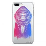 Capa Transparente Personalizada Para iPhone 7 Plus e iPhone 7 Pro Macaco - TP50