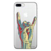 Capa Transparente Personalizada Para iPhone 7 Plus e iPhone 7 Pro Rock´n Roll - TP51