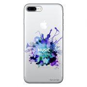 Capa Transparente Personalizada Para iPhone 7 Plus e iPhone 7 Pro Music Festival - TP54