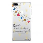 Capa Transparente Personalizada Para iPhone 7 Plus e iPhone 7 Pro Frases - TP115