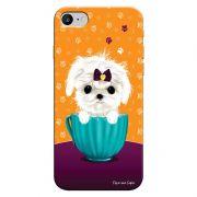 Capa Personalizada para Iphone 7 Cachorro no Pote - DE03