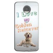 Capa Personalizada para Motorola Moto Z Eu Amo Meu Golden Retriever - TP76