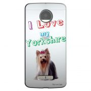 Capa Personalizada para Motorola Moto Z Eu Amo Meu Yorkshire - TP87