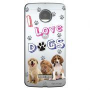 Capa Personalizada para Motorola Moto Z Force Eu Amo Meus Cachorros - TP69