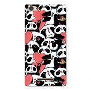 Capa Personalizada para Positivo S455 Selfie Love Panda - LV21