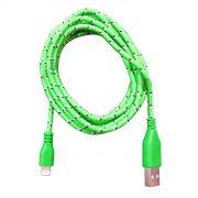 Cabo de Dados Estilo Corda para iPhone 2 metros - Verde