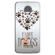 Capa Personalizada para Motorola Moto Z Play 5.5 XT1635 I Love Dogs - TP116