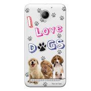 Capa Transparente Personalizada para Lenovo Vibe C2 Eu Amo Meus Cachorros - TP69