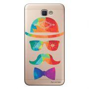 Capa Transparente Personalizada para Galaxy j7 Prime Mustache - TP13