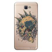 Capa Transparente Personalizada para Galaxy j7 Prime Caveira - TP18