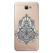 Capa Transparente Personalizada para Galaxy j7 Prime Tribal Hindu - TP19