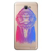 Capa Transparente Personalizada para Galaxy j7 Prime Macaco - TP50