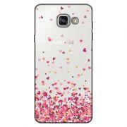 Capa Transparente Personalizada para Samsung Galaxy A9 A910 Corações - TP48