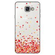 Capa Transparente Personalizada para Samsung Galaxy A9 A910 Corações - TP168
