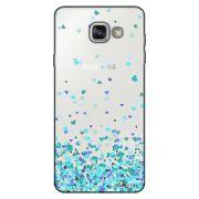 Capa Transparente Personalizada para Samsung Galaxy A9 A910 Corações - TP172