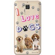 Capa Personalizada para Asus Zenfone 3 Max 5.2 ZC520TL Eu Amo Meus Cachorros - TP69