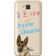Capa Transparente para Asus Zenfone 3 Max 5.2 ZC520TL Eu Amo Meu Pastor Alemão - TP80