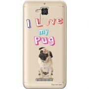 Capa Transparente para Asus Zenfone 3 Max 5.2 ZC520TL Eu Amo Meu Pug - TP83