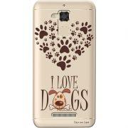 Capa Personalizada para Asus Zenfone 3 Max 5.2 ZC520TL I Love Dogs - TP116