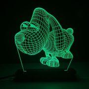Luminária Decorativa 3D Iluminada com LED Verde - Cachorro