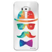 Capa Transparente Personalizada para Asus Zenfone 3 5.7 Deluxe ZS570KL Mustache - TP13