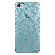 Capa Personalizada para Apple Iphone 7 Renda Azul - TP280