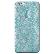 Capa Personalizada para Apple Iphone 6/6s Renda Azul - TP280