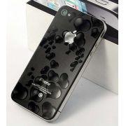 Pelicula Protetora Apple Iphone 4 4S com Relevo em 3D Frente e Verso - Corações