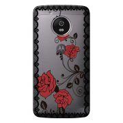 Capa Personalizada para Motorola Moto G5 XT1676 Renda com Rosas - TP291