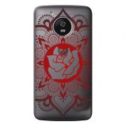 Capa Personalizada para Motorola Moto G5 XT1676 Mandala e Rosa - TP258