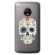 Capa Transparente Exclusiva para  Motorola Moto G5 Plus Caveira Mexicana - TP240