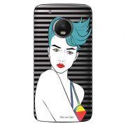 Capa Transparente Exclusiva para  Motorola Moto G5 Plus Girl - TP265