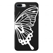 Capa Grafite Personalizada para Apple iPhone 8 Plus - Borboleta - GF11