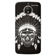 Capa Grafite Personalizada Motorola Moto G5S XT1792 - Índio Caveira - GF06