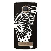 Capa Grafite Personalizada para Motorola Moto Z2 Play XT1710 - Borboleta - GF11
