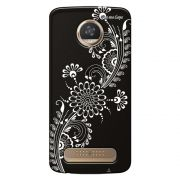 Capa Grafite Personalizada para Motorola Moto Z2 Play XT1710 - Flor Tribal - GF09
