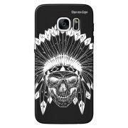 Capa Grafite Personalizada para Samsung Galaxy S7 Edge G935 - Índio Caveira - GF06