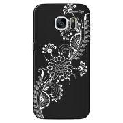 Capa Grafite Personalizada para Samsung Galaxy S7 G930 - Flor Tribal - GF09