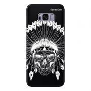 Capa Grafite Personalizada para Samsung Galaxy S8 G950 - Índio Caveira - GF06
