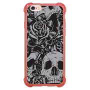 Capa Intelimix Anti-Impacto Rosa Apple iPhone 6 6s Caveira - CV01