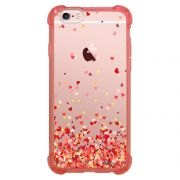 Capa Intelimix Anti-Impacto Rosa Apple iPhone 6 6s Corações - TP168