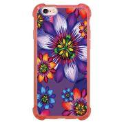 Capa Intelimix Anti-Impacto Rosa Apple iPhone 6 6s Florais - FL10