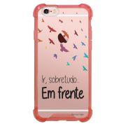 Capa Intelimix Anti-Impacto Rosa Apple iPhone 6 6s Frases - TP43