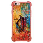 Capa Intelimix Anti-Impacto Rosa Apple iPhone 6 6s Pintura - AT36